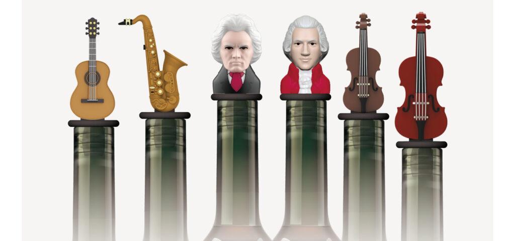 Musical Instrument Bottle Stopper